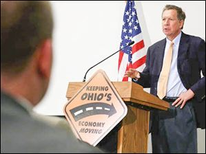 Ohio Governor John R. Kasich speaks.