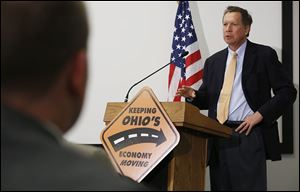 Gov. John Kasich said the upcoming construction projects in northwest Ohio make for exciting times.
