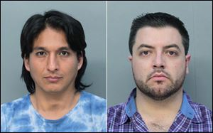 Mitchell Adber Espinoza, left, and Pascal Reid. The February 2014 arrests of Reid and Espinoza marked the first time any state has brought money laundering charges involving bitcoins, according to Miami-Dade State Attorney Katherine Fernandez Rundle.