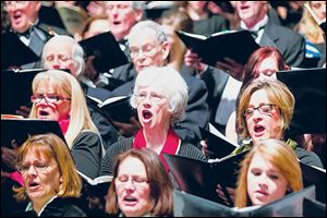 Members of Masterworks Chorale were among those who performed 'Ode to Joy' with the Toledo Symphony. Orchestra.