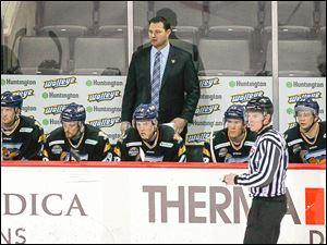 Coach Dan Watson took over behind the bench for the Walleye this season, replacing Nick Vitucci.