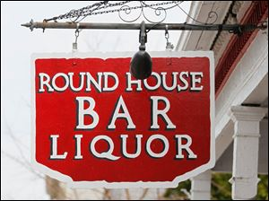 The sign for the bar.