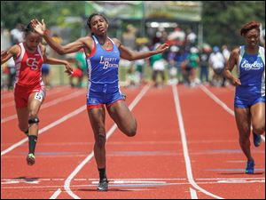 Liberty-Benton's Michaela Butler, a sophomore, won the 200-meter dash at the Division II state meet last year and was runner-up in the 100. She also helped the 400 relay team reach the state competiton.