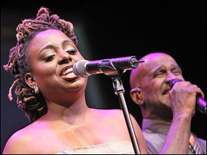Ledisi performs with TAKE 6 at the 2013 Thelonious Monk International Jazz Saxophone Competition at The John F. Kennedy Center for Performing Arts on September, 2013 in Washington, DC.