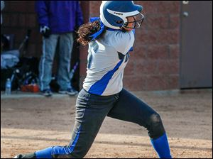 Springfield's Hannah Girlie hit two home runs against Maumee on Wednesday.