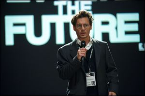 "Johnny Depp in a scene from ""Transcendence."""