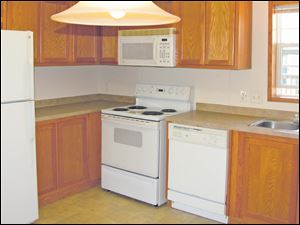 Home chefs will love cooking in this large, eat-in kitchen. Quality General Electric appliances are included.