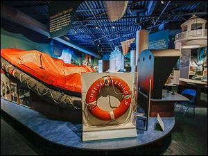 A life raft recovered from the Edmund Fitzgerald is on display at the National Museum of the Great Lakes, which moved from Vermilion, Ohio.