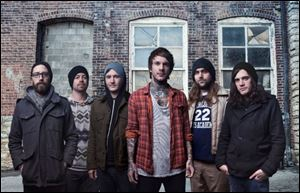 The rock band Chiodos.