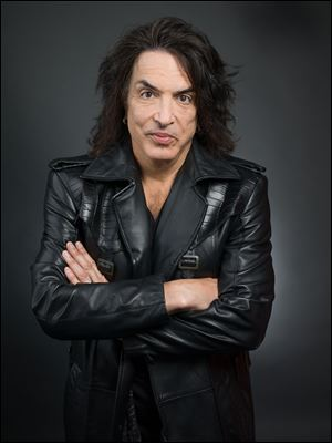 "Guitarist and frontman of the band ""Kiss,"" Paul Stanley in New York."