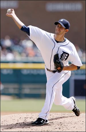 Tigers pitcher Rick Porcello allowed a run and five hits, striking out four, and walking one on Sunday in Detroit to earn the win.