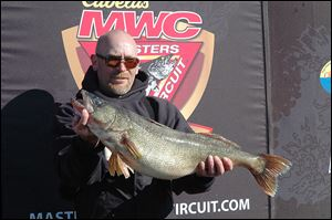 The biggest catch at the Cabela's Master Walleye Circuit tournament was 13 pounds, 4 ounces, entered by Jerry Fox, Jr., and Kenneth Fox, above, of Algonac, Mich.