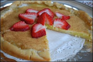 Citron Tart With Fresh Strawberries is a fabulous tweak on a 1967 community cookbook recipe.