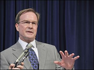 Michigan Attorney General Bill Schuette praised the Supreme Court's decision regarding the state's affirmative action law involving college admissions during a news conference Tuesday in Lansing.