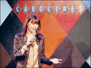 Ella Steinbeck performs a standup show at Carolines On Broadway comedy club in New York after taking a six-week class. The $395 class, held at a nearby acting studio, culminates with a graduation performance at the club in front of friends and family.