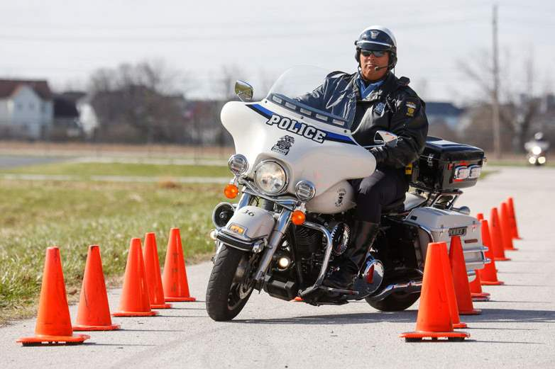 Officer-Andre-Antoine-completes-a-braking-section-of-the-course