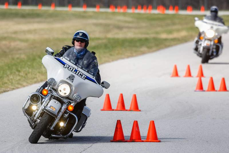 Officer-Scott-Swartz-navigates-around-a-section-of-cones
