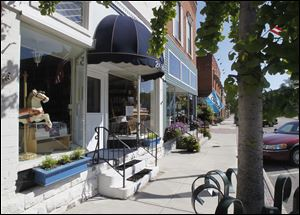 Intriguing shops beckon visitors in quaint downtown Grand Rapids, Ohio.
