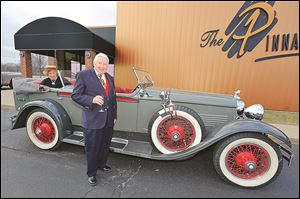 Ford and Phyllis Cauffiel with their 1928 Stutz at the Great Gatsby event to benefit the Alzheimer's Association.