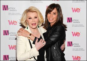 "Joan Rivers complained about living in her daughter's guest room, saying, ""Those women in the b"