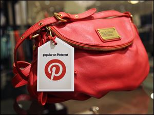 A handbag made popular on Pinterest that is available at Nordstrom stores.