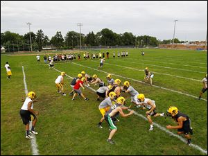 Northview's football team hits the field during the first practice day in August, when Ohio teams begin preparing for the season. Ohio ranked fifth last year in putting players on major college rosters.