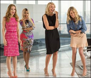 Leslie Mann, Nicki Minaj, Cameron Diaz and Kate Upton in a scene from