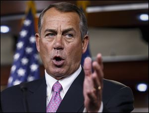 House Speaker John Boehner has three Republican opponents on the ballot May 6 and some outside money coming in aimed against him.