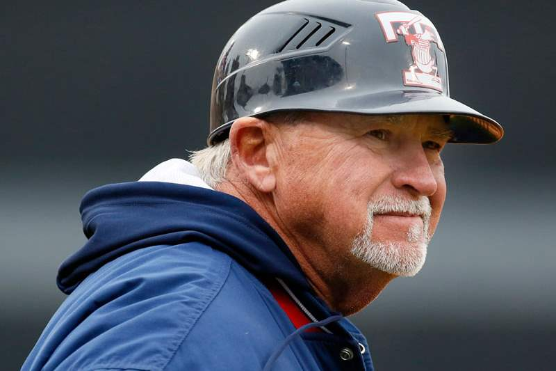 Toledo-Mud-Hens-manager-Larry-Parrish-watches-the-action