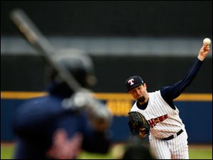Toledo Mud Hens pitcher Robbie Ray throws against Gwinnett.