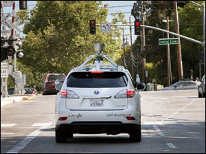 A Google self-driving ve