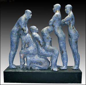'Blue Human Condition' sculpture
