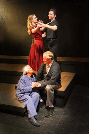 Madge Levinson and Guy Sutherland play Maxine and Joe in Toledo Repertoire Theatre's production of 'Moonglow.'