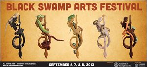 The 2013 poster for the Black Swamp Arts Festival, designed by Amy and Matt Karlovec, has been named most creative concept by Sunshine Artist, a magazine catering to the art and craft-show business.