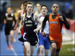 Frank Hayes of Southview wins the 800 meter run. He was also part of the winning 1600-meter relay team for the Cougars.