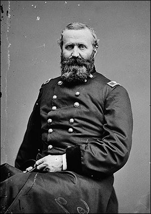 Gen. Alexander Hays of the Union Army was killed 150 years ago today in the Battle of the Wilderness during the Civil War. Pittsburgh businesses closed so residents could attend his funeral on May 14.