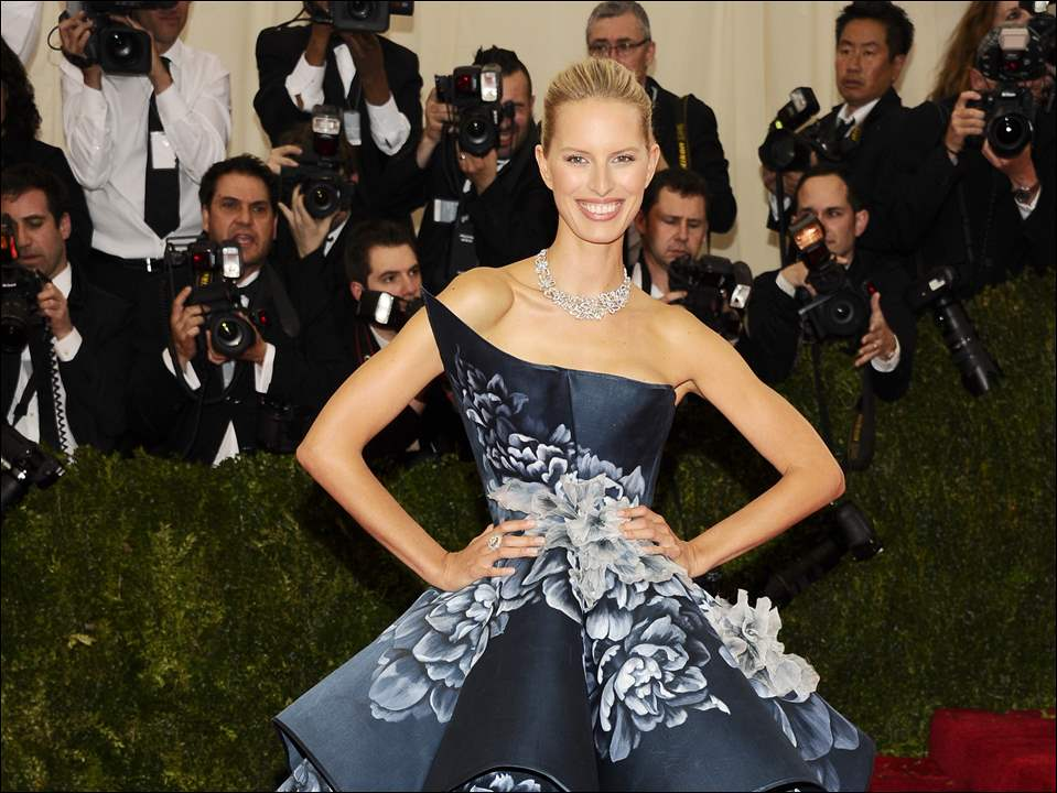 "Karolina Kurkova attends The Metropolitan Museum of Art's Costume Institute benefit gala celebrating ""Charles James: Beyond Fashion"" Monday in New York."