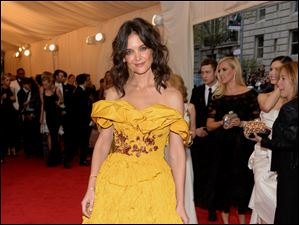 Katie Holmes attends The Metropolitan Museum of Art's Costume Institute benefit gala.