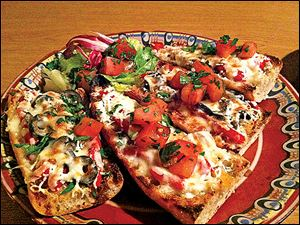 Bruschetta at Naslada Bistro in Bowling Green.
