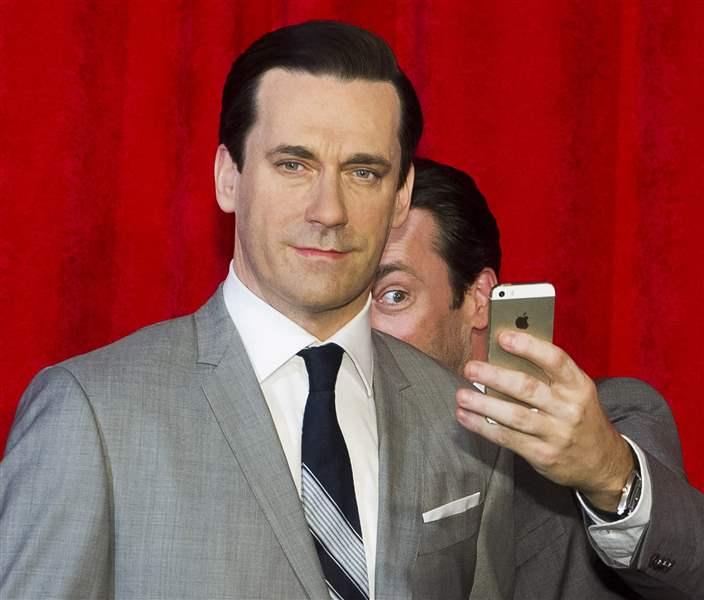 APTOPIX-Jon-Hamm-Wax-Figure-Unveiling-At-Madame-Tussauds