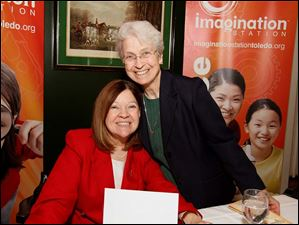 Helen Benziger, left, and Sister Ann Carmen Barone, right.