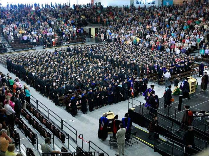 The scene of the 279th Commencement at Bowling Green State University.