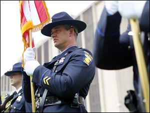 Brian Young, with the Toledo Police Honor Guard.