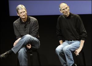Apple's potential purchase of headphone maker Beats Electronics for $3.2 billion is just the latest example of how much Tim Cook, left, has deviated from Steve Jobs, right, who had so much confidence in his company''s innovative powers that he saw little sense in spending a lot of money on acquisitions.