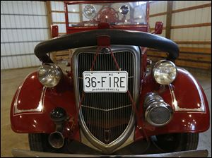 Historical 1936 fire truck that will be auctioned off.