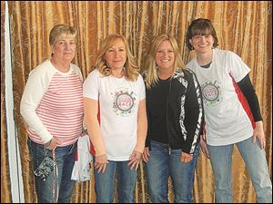 The members of the winning team for the Amazing Race were, from left, Debbie Powers, Sarah Weglian, Angie Overton, and Tracy Zielinski.