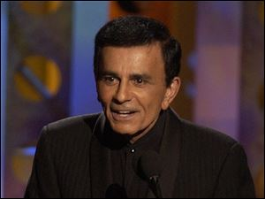 Casey Kasem accepts a radio icon award  during the Radio Music Awards in October, 2003