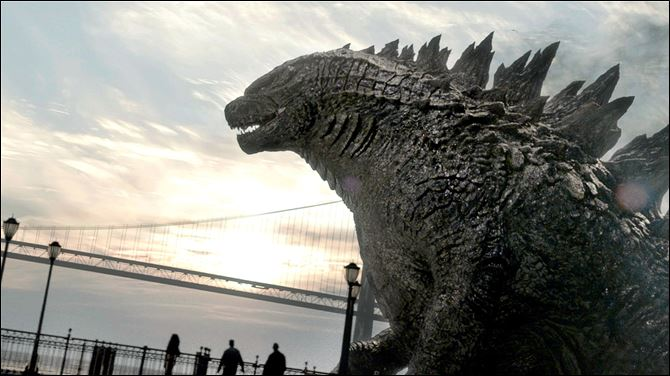 Film Review Godzilla kaiju A scene from the new 'Godzilla' flm.
