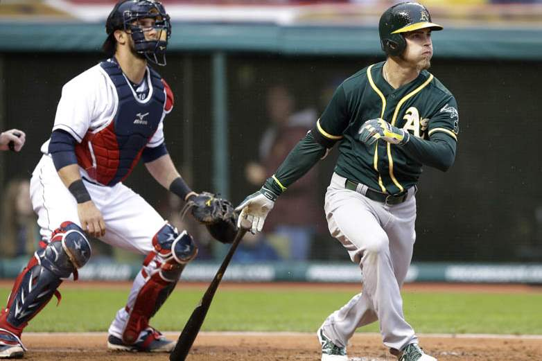 Athletics-Indians-Baseball-12