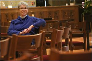 The Rev. Elizabeth Hoster, rector at Trinity Episcopal Church in Toledo.